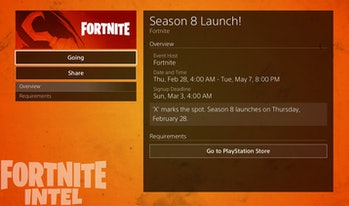 Fortnite Season 8 Start Time