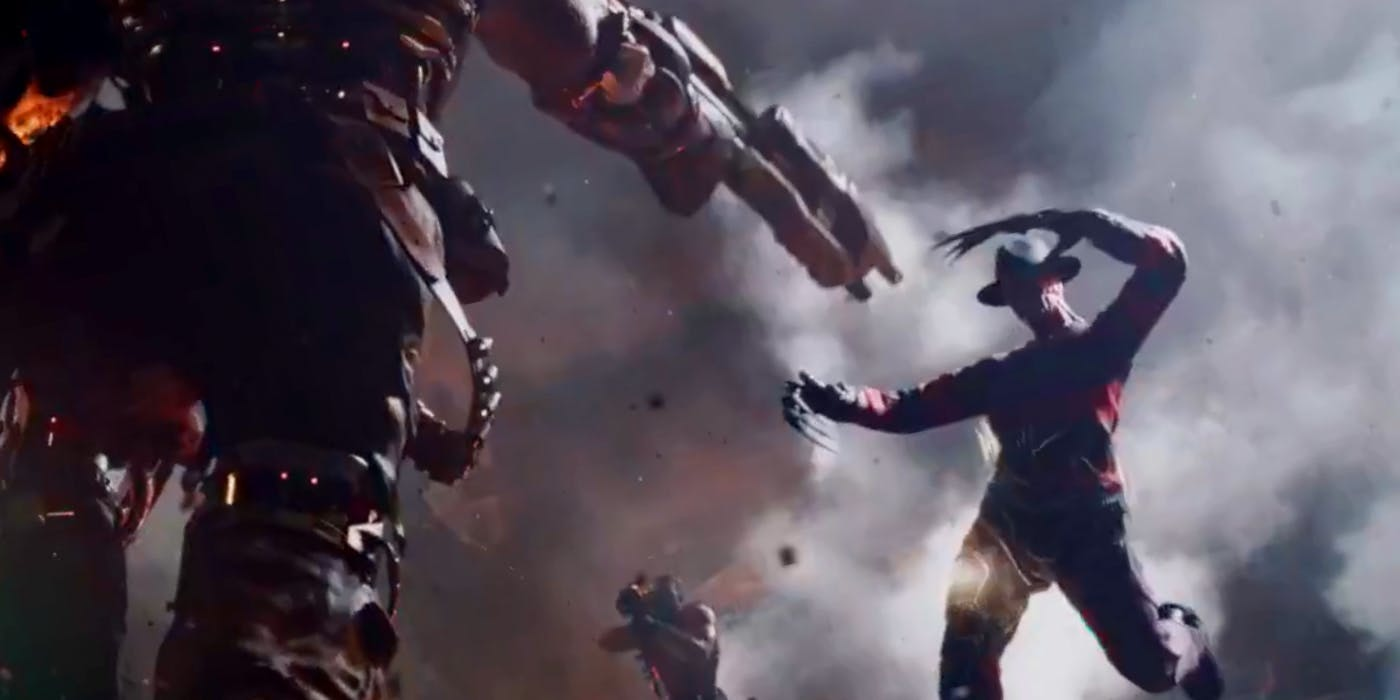 Aech shoots Freddy Krueger in 'Ready Player One'.
