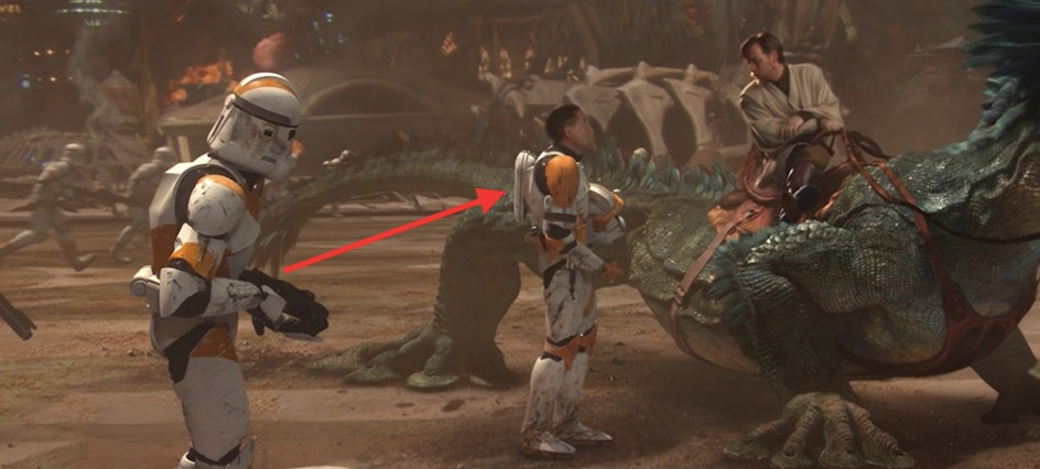 Commander Cody's jetpack in 'Revenge of the Sith'