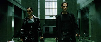 Neo and Trinity in 'The Matrix'.