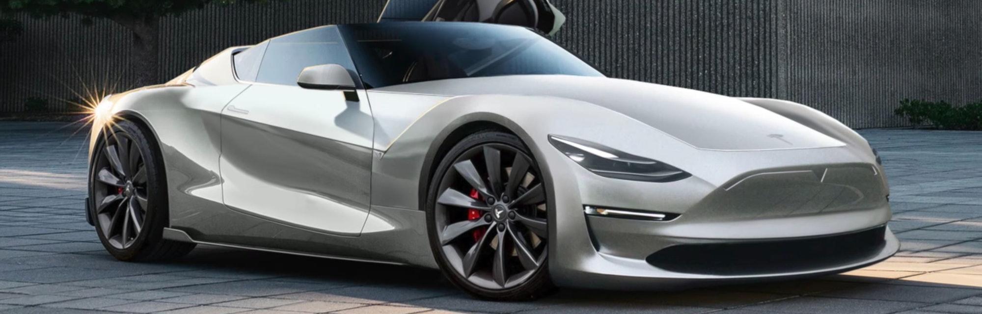 Raindrop Drop Top Elon Musk Teases New Tesla Roadster