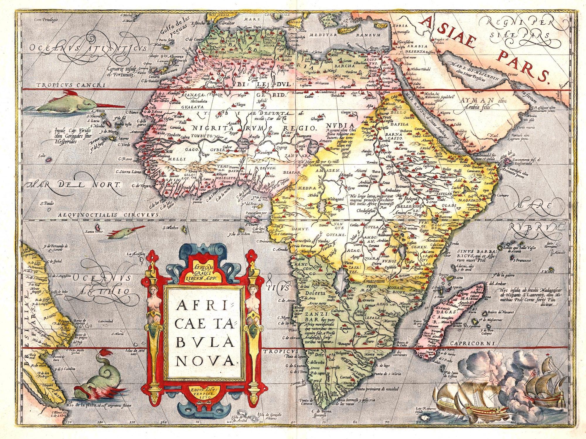 Abraham Ortelius map of Africa