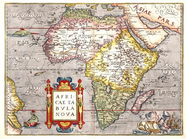 Abraham Ortelius map of Africa