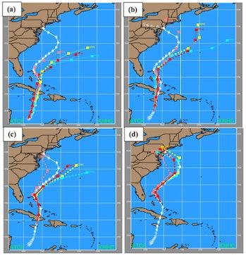 Map of Hurricane Sandy's path
