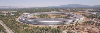 Apple campus green energy corporate renewable economics