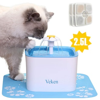 Veken Automatic Pet Water Dispenser with Silicone Mat