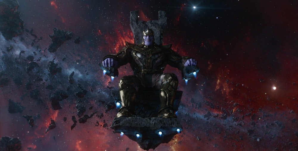 The armor of Thanos as it appears in a trailer for 'Avengers: Endgame'.