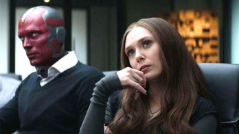 Paul Bettany Elizabeth Olsen in Captain America: Civil War