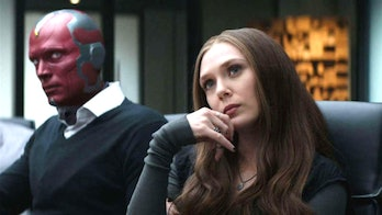 Paul Bettany Elizabeth Olsen in Captain America: Civil War