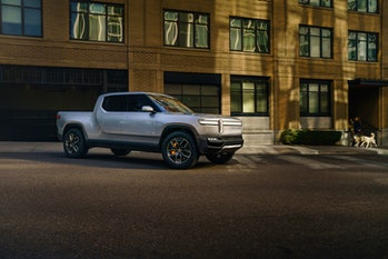 The Rivian R1T, as photographed in 2018.