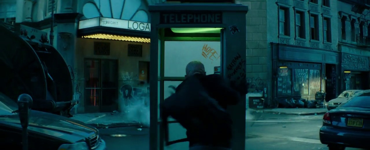 "The outside of the phone booth says ""Nathan Summers"" (Cable's real name) and the inside says ""Hope."""