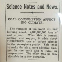 A 1912 Newspaper Article About Coal Has a Prescient Climate Change Warning