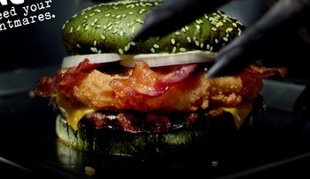 Nightmare Burger Burger King Close-Up Photo