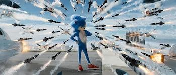 Sonic (Ben Schwartz) in 'Sonic the Hedgehog'