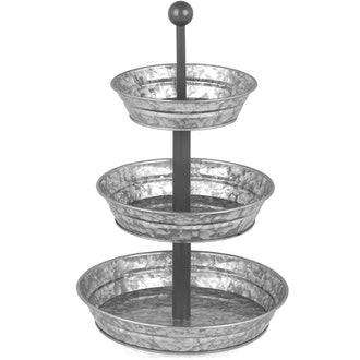 3 Tier Galvanized Serving Tray