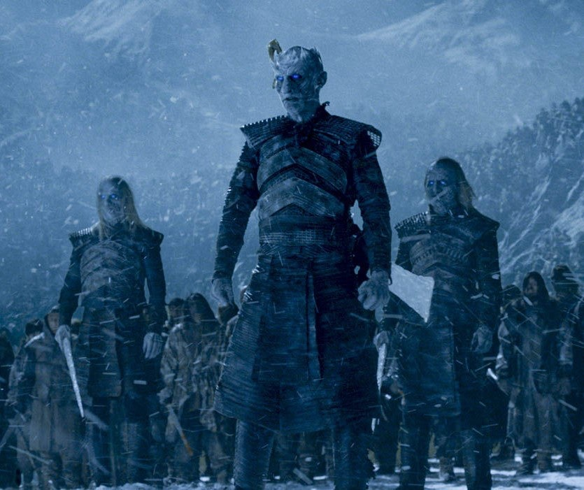 Vladimir Furdik in costume as the Night King on Game of Thrones