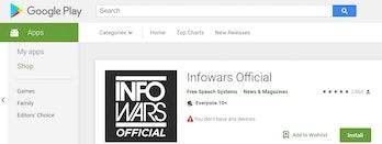 InfoWars on Google.