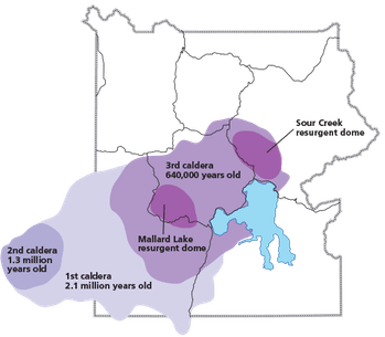 caldera map yellowstone national park