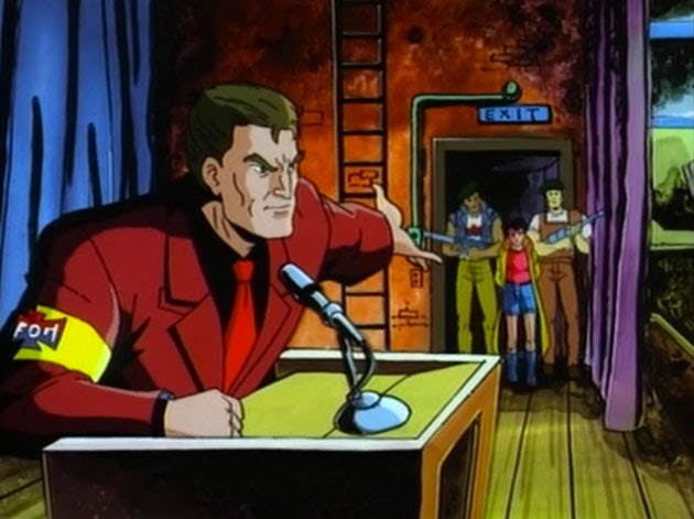 Politics played a huge role in the animated series.