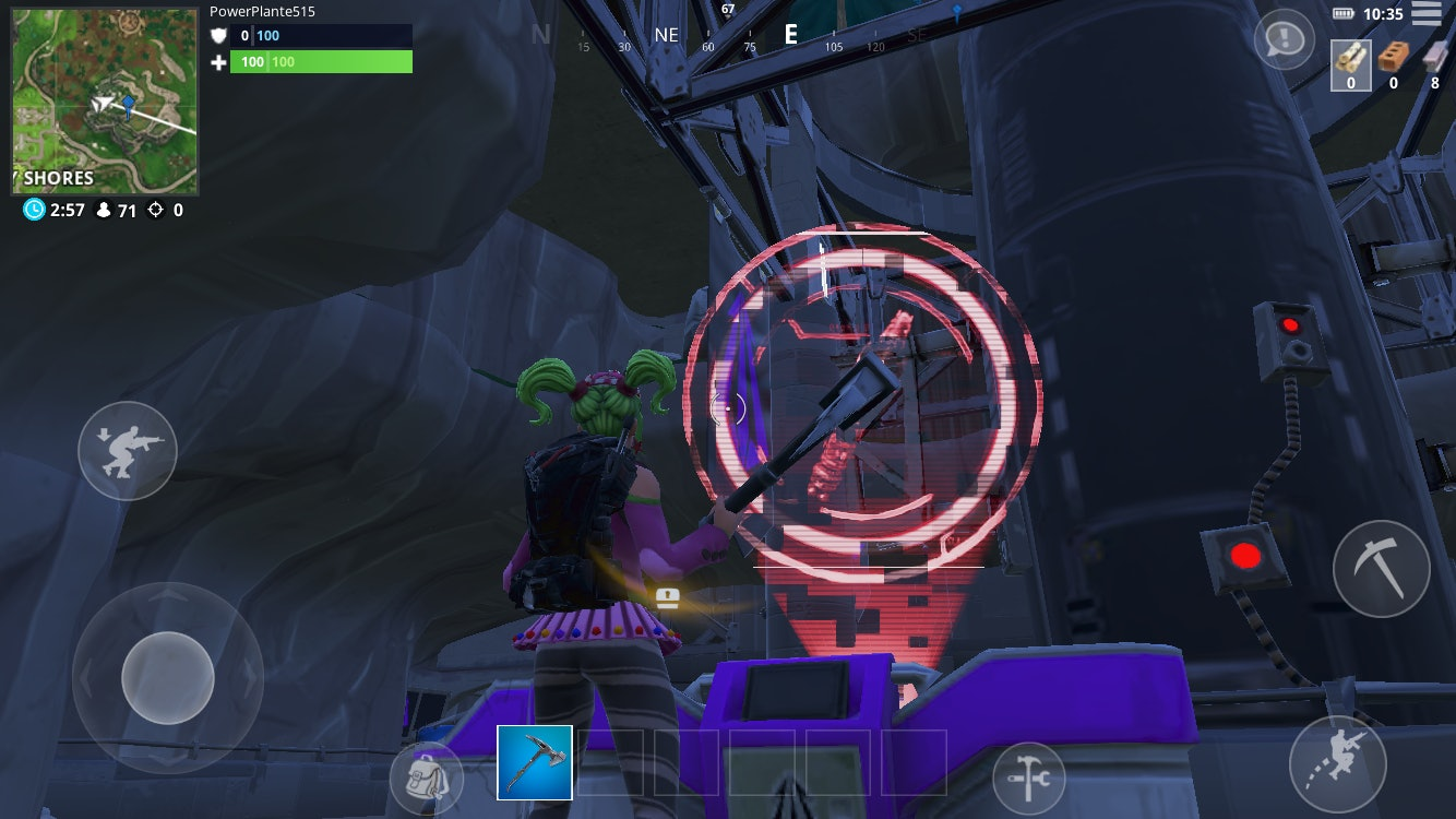 There is an active control panel at the base of the rocket in the supervillain lair in 'Fortnite: Battle Royale'.