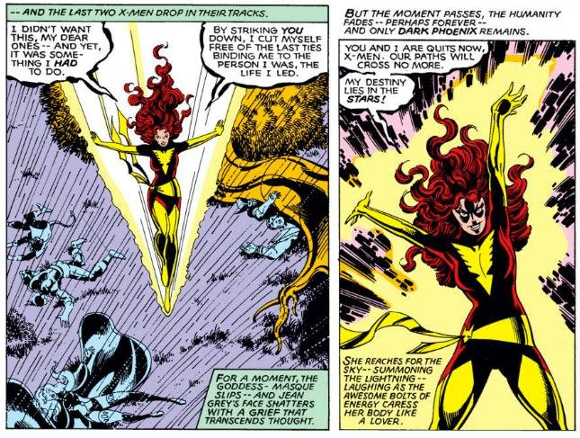 Panel from Marvel Comic's Dark Phoenix Saga