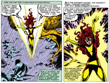 Panel from Marvel Comic's Dark Phoenix Saga