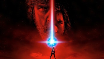 Rey (Daisy Ridley) prominently featured in a poster for 'The Last Jedi'.