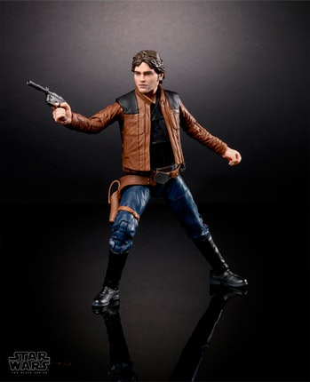 The Black Series toy of Alden Ehrenreich as Han Solo.