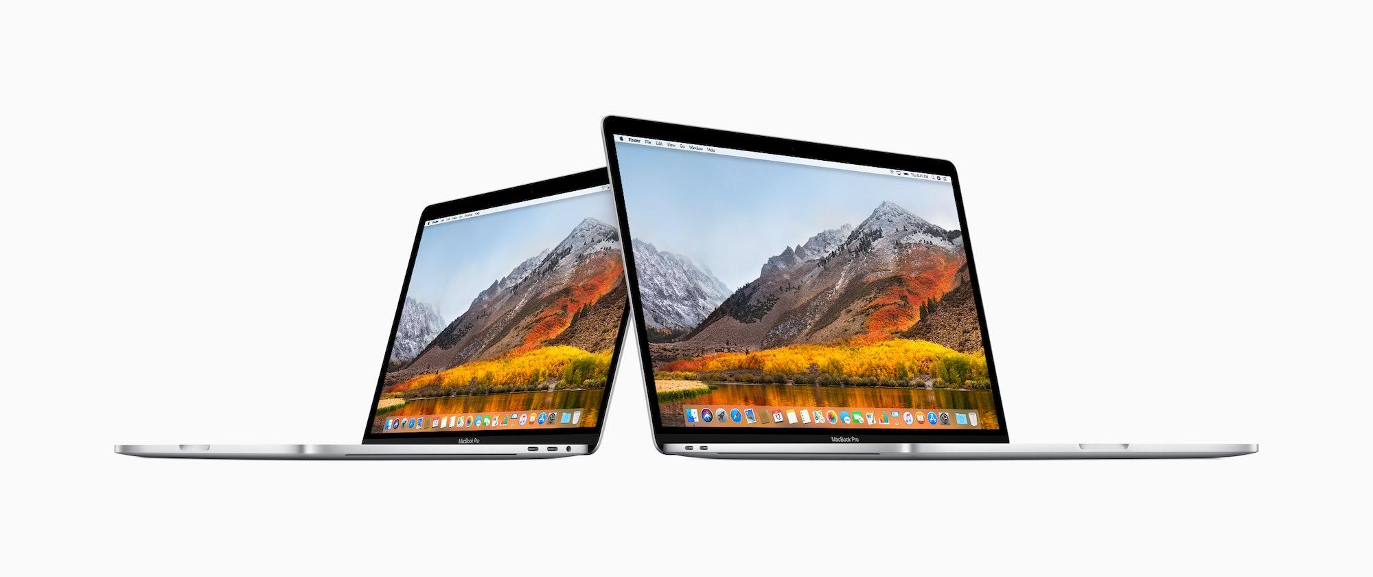 The MacBook Pro side-by-side.