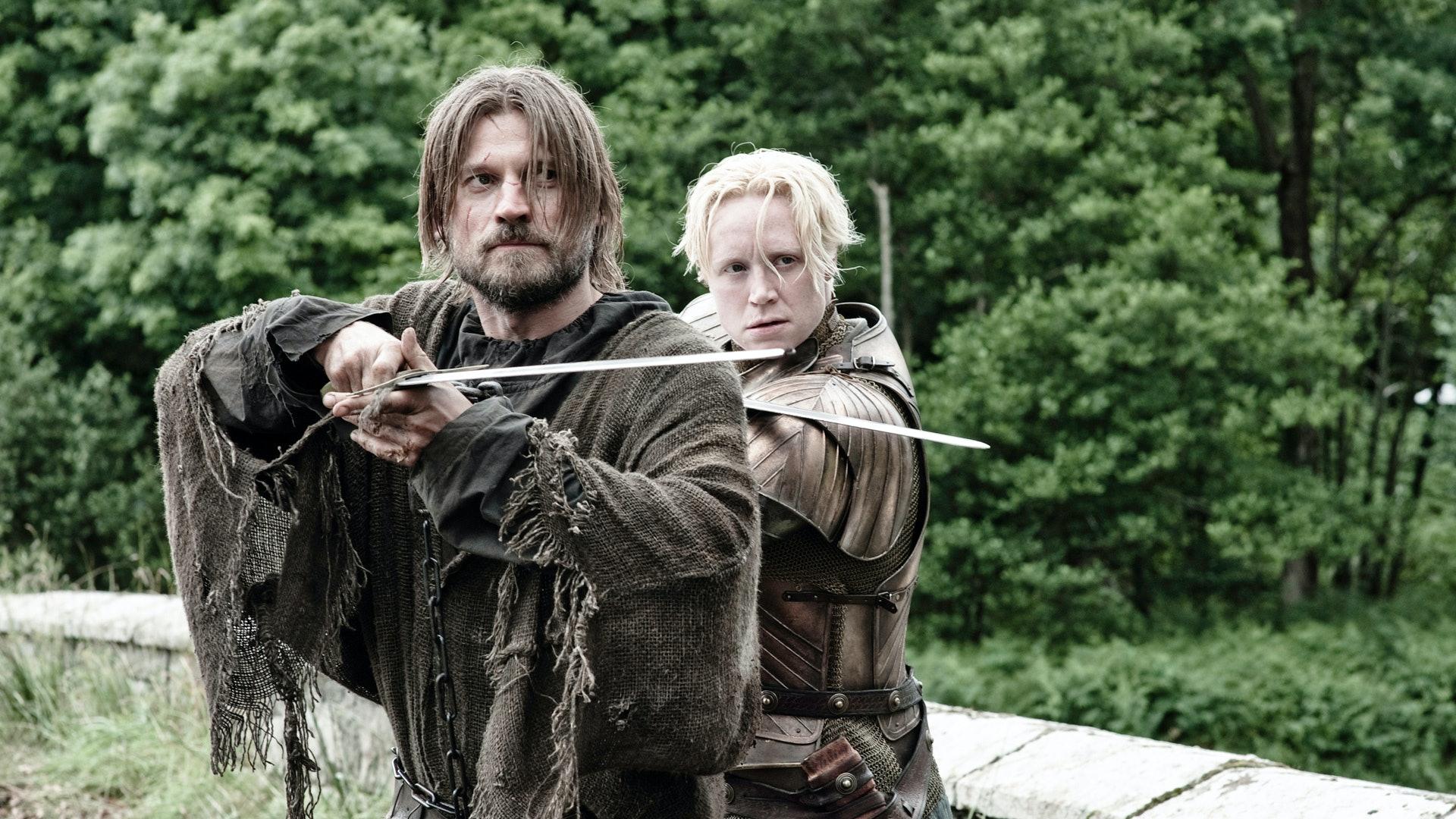 Jaime and Brienne in 'Game of Thrones' Season 3