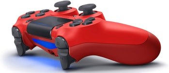 DualShock 4 Wireless Controller for PlayStation 4 - video game, Magma red