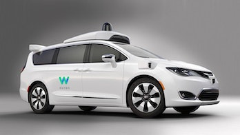 A Waymo-powered Chrysler Pacifica.You could ride in one of these!