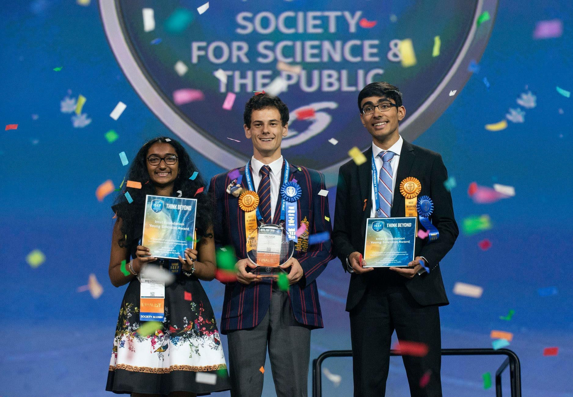 Meghana Bollimpalli won one of the top three prizes at the Intel International Science and Engineering Fair for presenting on the inexpensive supercapacitor project.