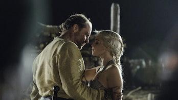 dany jorah kiss game of thrones hbo
