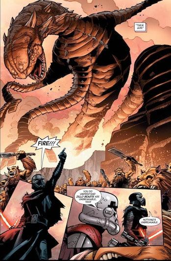star wars 9 leaks kylo comic sand worm