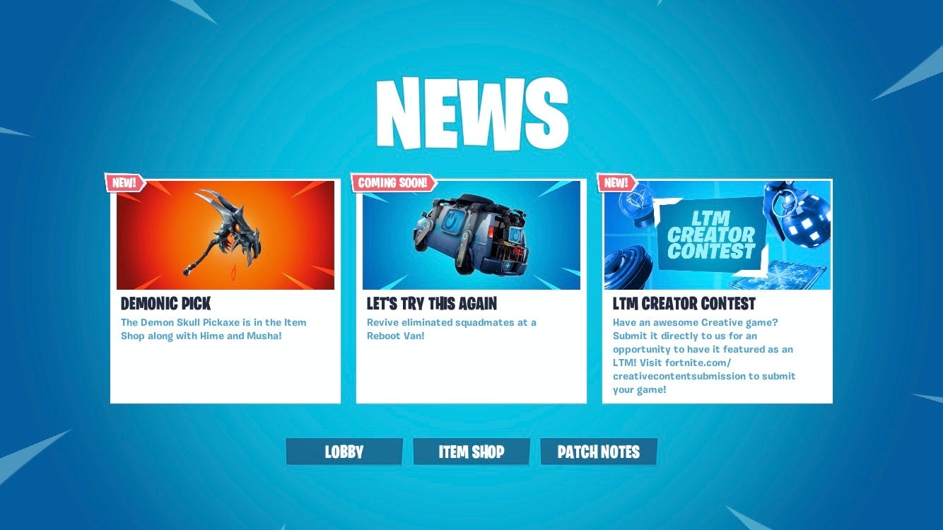 Fortnite News Reboot Van