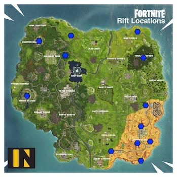 'Fortnite' Season 6 Rift Locations