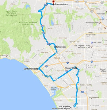The route in all its glory.