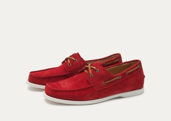 Baldwin Suede Boat Shoe - Red