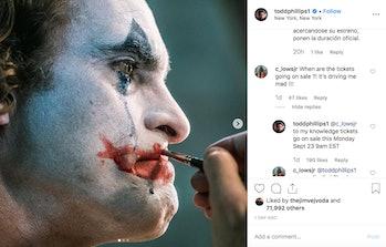 Joker Todd Phillips Instagram