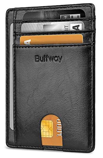 Buffway slim front pocket wallet