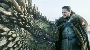 Rhaegal the Dragon and Jon Snow (Kit Harington) on 'Game of Thrones'