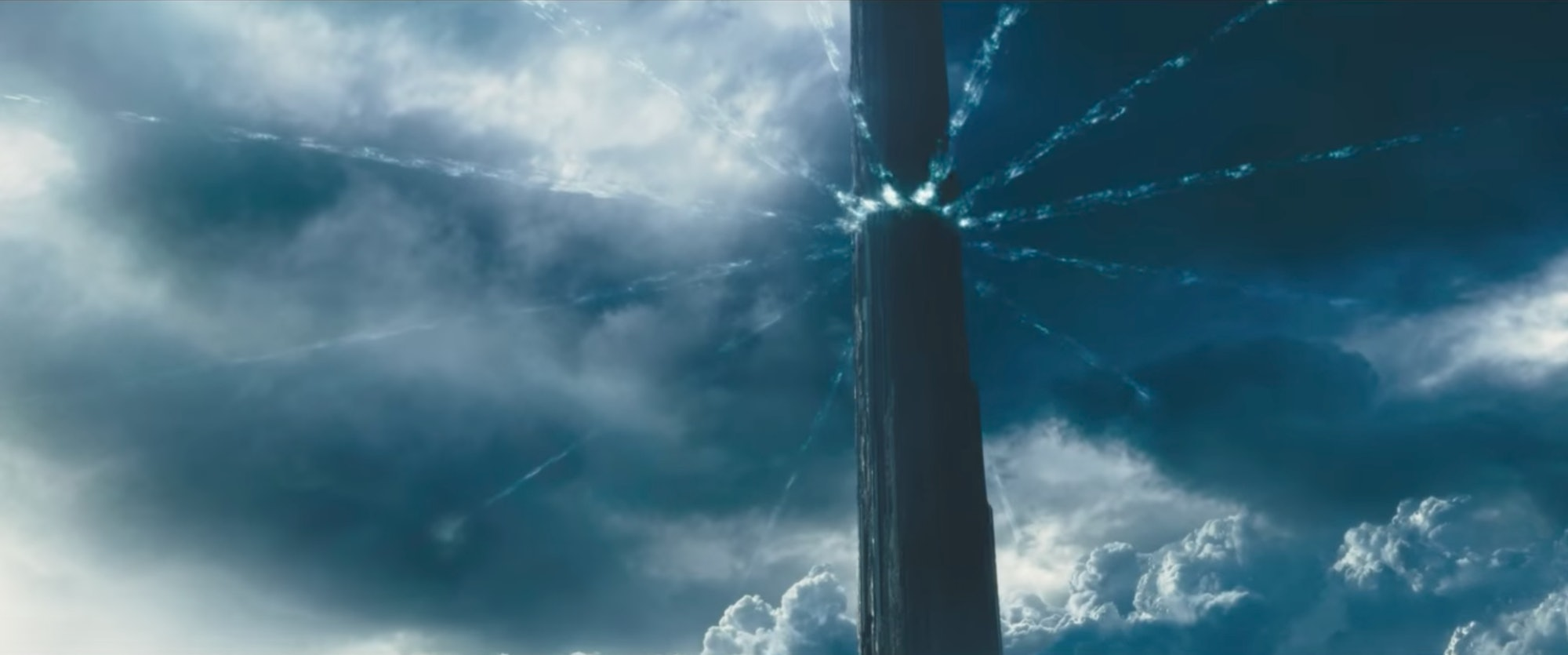 """The Tower has """"beams"""" of light arranged in that pattern for a reason in 'The Dark Tower' movie."""