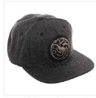 Game Of Thrones House Targaryen Harringbone Snapback Hat
