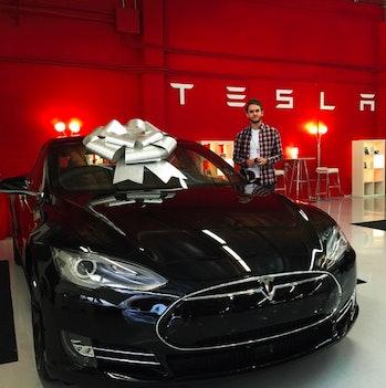 Zedd and his Tesla