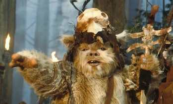 """Don't talk to me unless I've had my morning cup of caf!"" — This Ewok, probably."