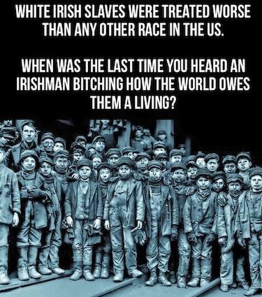 Irish slavery myth, coal miners