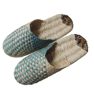 Corn Husks Upcycle Slippers / #2019-005
