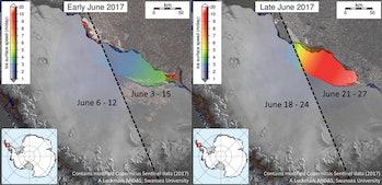 Larsen c iceberg ice shelf antartica