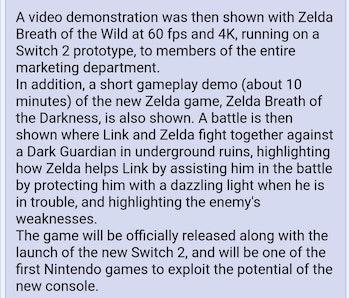 4chan breath of the wild 2 leaks rumors